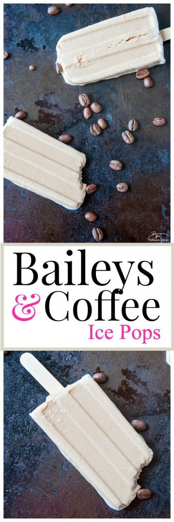 Irish Cream and Coffee Ice Pops. Add this Baileys dessert to your dessert recipes!