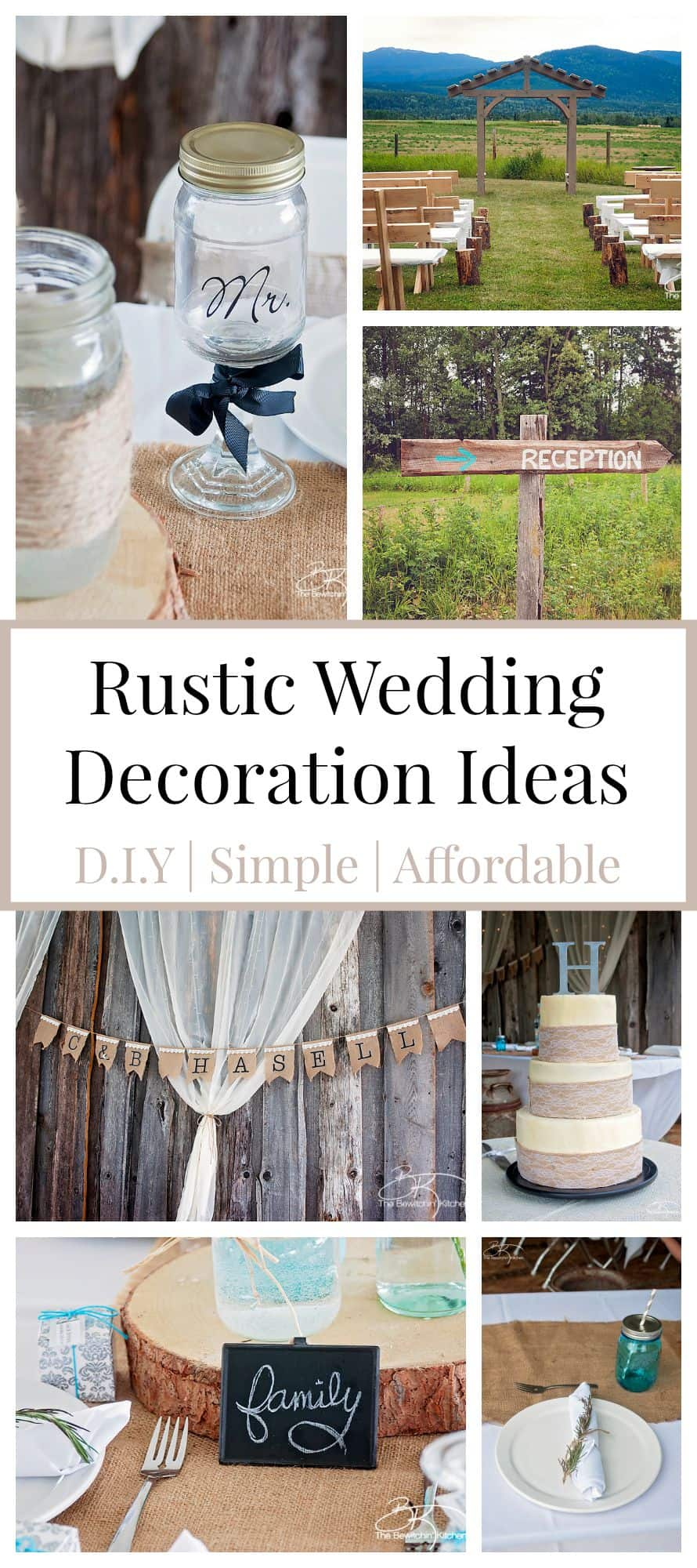 Rustic wedding ideas that are diy affordable the bewitchin kitchen rustic wedding ideas these diy wedding decorations are amazing and look incredibly cute when put junglespirit Images