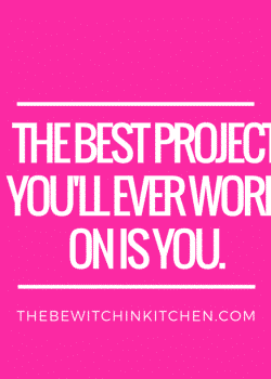 The best project you'll ever work on is you. Weight loss goals and fitness motivation.