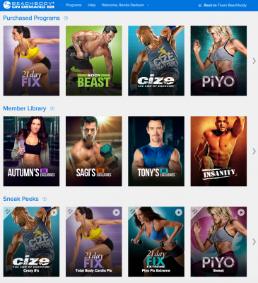 Beachbody On Demand is like Netflix but for Beachbody workouts! You even get ones you haven't bought! Improve your fitness, reach new goals, get stronger and lose weight with the 21 Day Fix, Insanity, P90X, Turbo Fire, Body Beast and many more!