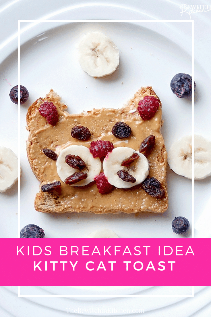 Healthy breakfast ideas for kids, I have a picky toddler who turns down everything but he loves this kitty cat toast!