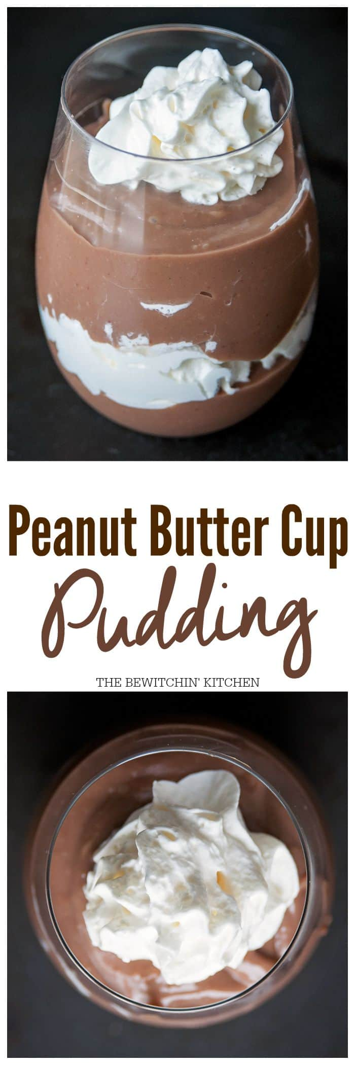 Peanut Butter Cup Pudding. Chocolate and peanut butter make this dessert recipe a must. Great as a cupcake filling recipe.