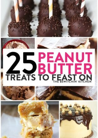 25 peanut butter treats to feast on. Treat your sweet tooth with these famous chocolate and peanut butter dessert recipe combinations.