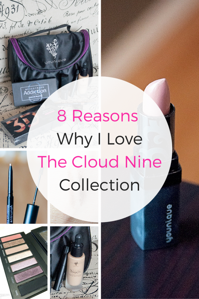 8 reasons why I love the Younique Cloud Nine Collection. I am NOT a presenter, I just love the product. From the perfect smokey eye to an everyday fresh look, this collection provides it all. Pin this to your beauty board!