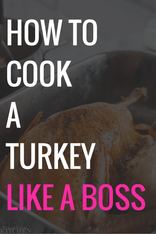 How to cook a turkey dinner.