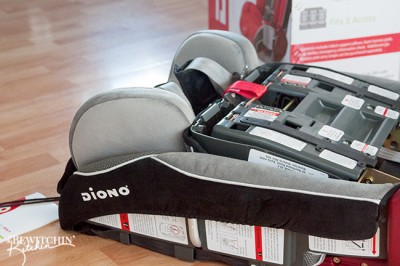 The Diono RadianRXT is perfect for travel. It folds up easily and can even be worn as a backpack.