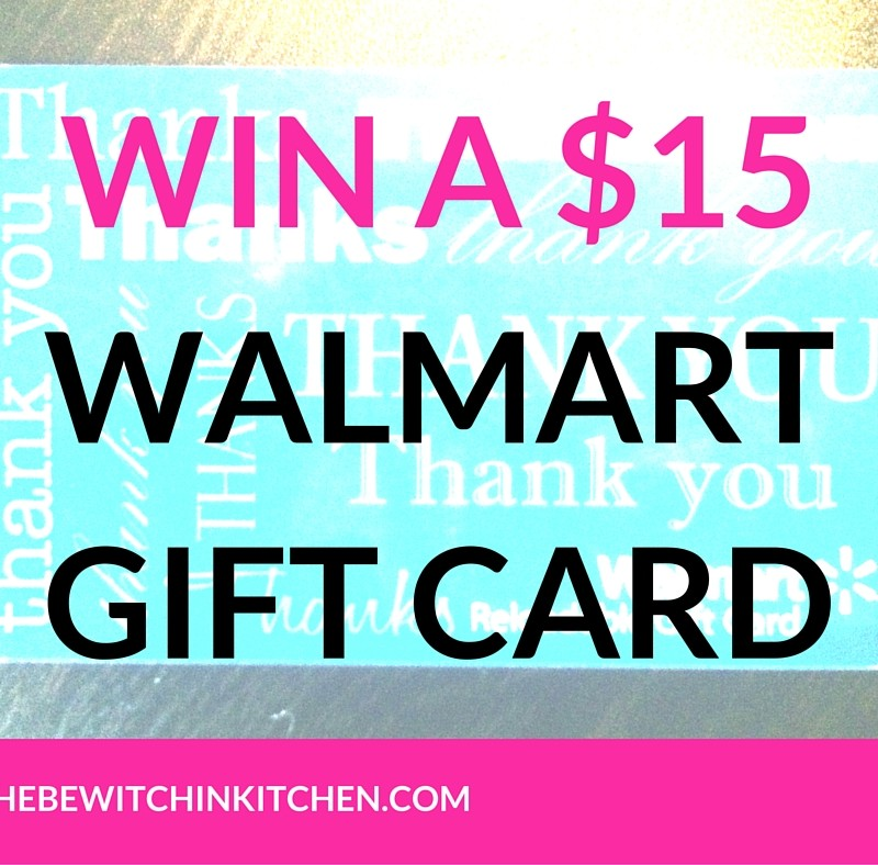 Win a $15 Walmart Gift Card #Giveaway