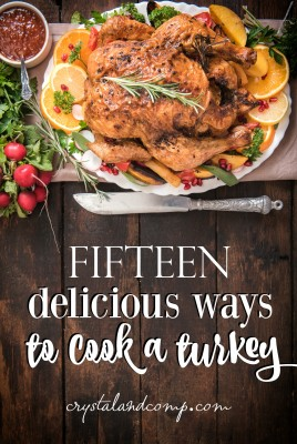 15 ways to cook a turkey featured on the Monday Funday Linky Party