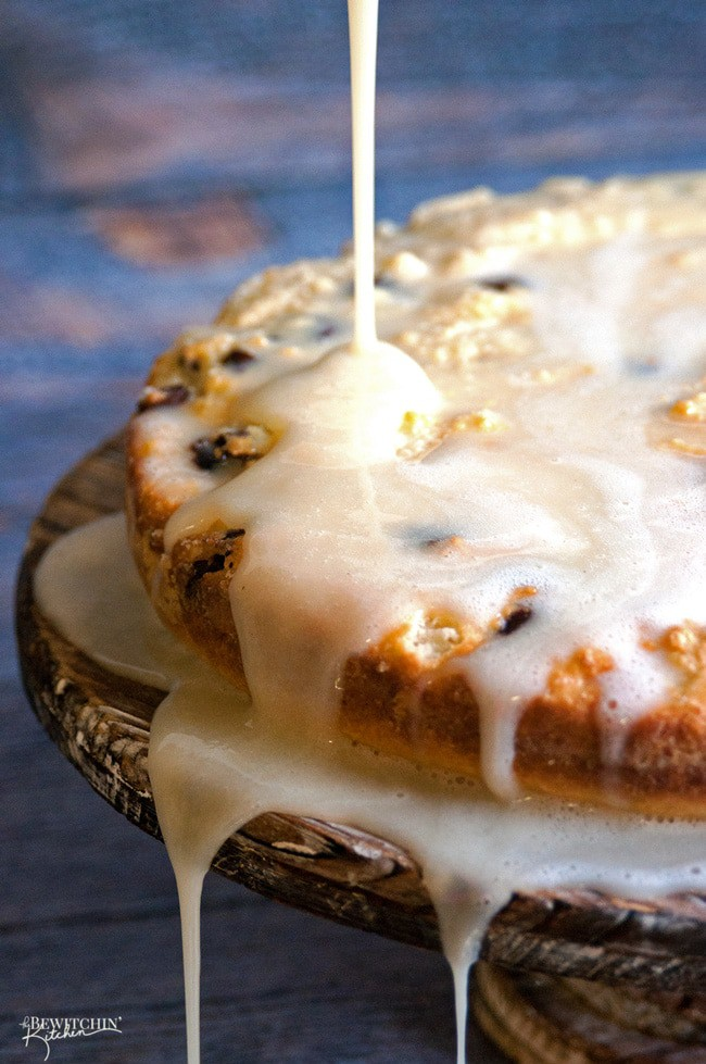 Ricotta Cake with an Eggnog Glaze - you will never guess the unique way this cake recipe was cooked! So cool and it's so yummy | thebewitchinkitchen.com