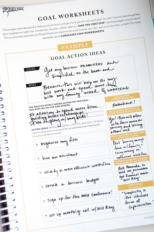 The 2016 Make It Happen Powersheets from the Lara Casey Shop! Here's a sneak peak at my order, I'm so excited to get started. Setting goals and crushing them to be the best girl boss out there! | thebewitchinkitchen.com