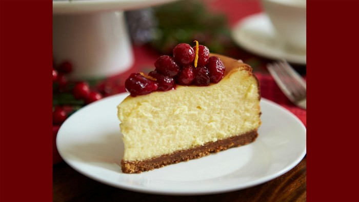 Chef Lynn Crawford's Cranberry Gingerbread Cheesecake