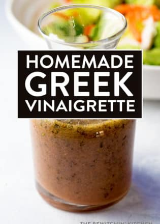 Homemade Greek Vinaigrette - this greek dressing is simple, healthy, and falls under clean eating recipes. Your salads and marinades will never be the same. YUM!