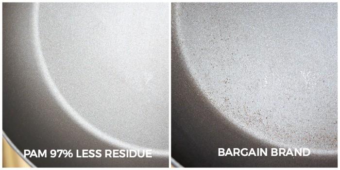Pam No Residue VS Bargain Brand