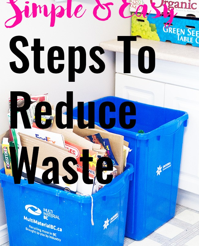 Simple & Easy Steps To Reduce Waste #SCJZeroWaste
