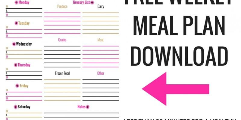 Weekly Meal Plan Download