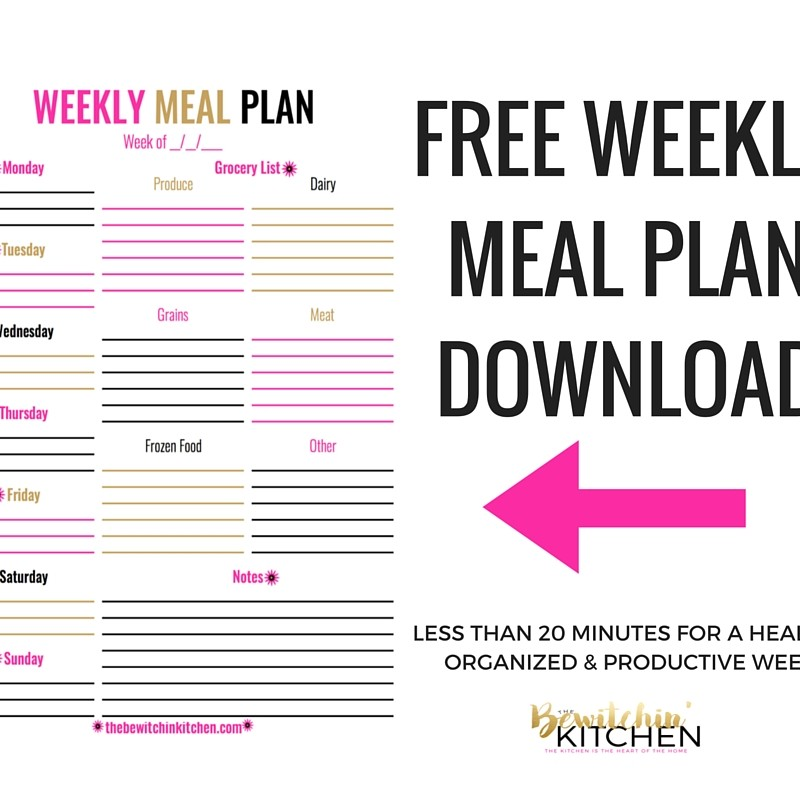 Weekly Meal Plan Download