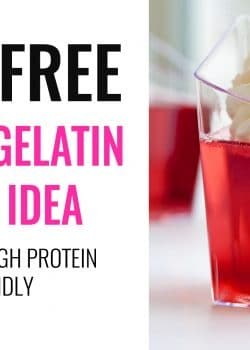 Homemade gelatin cups. This healthy snack idea is so easy and takes minimal effort. This low calorie recipe is only 35 calories FOR THE WHOLE THING plus 9g of protein. I love super easy dessert and snacks! | thebewitchinkitchen.com