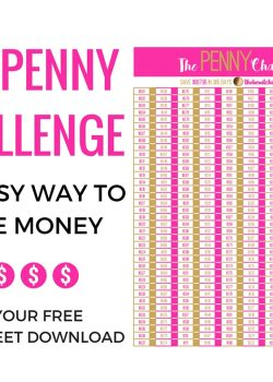 An easy to way to save money - The Penny Challenge! Stay within your budget and build your savings to use towards emergencies, travel, or for a rainy day!