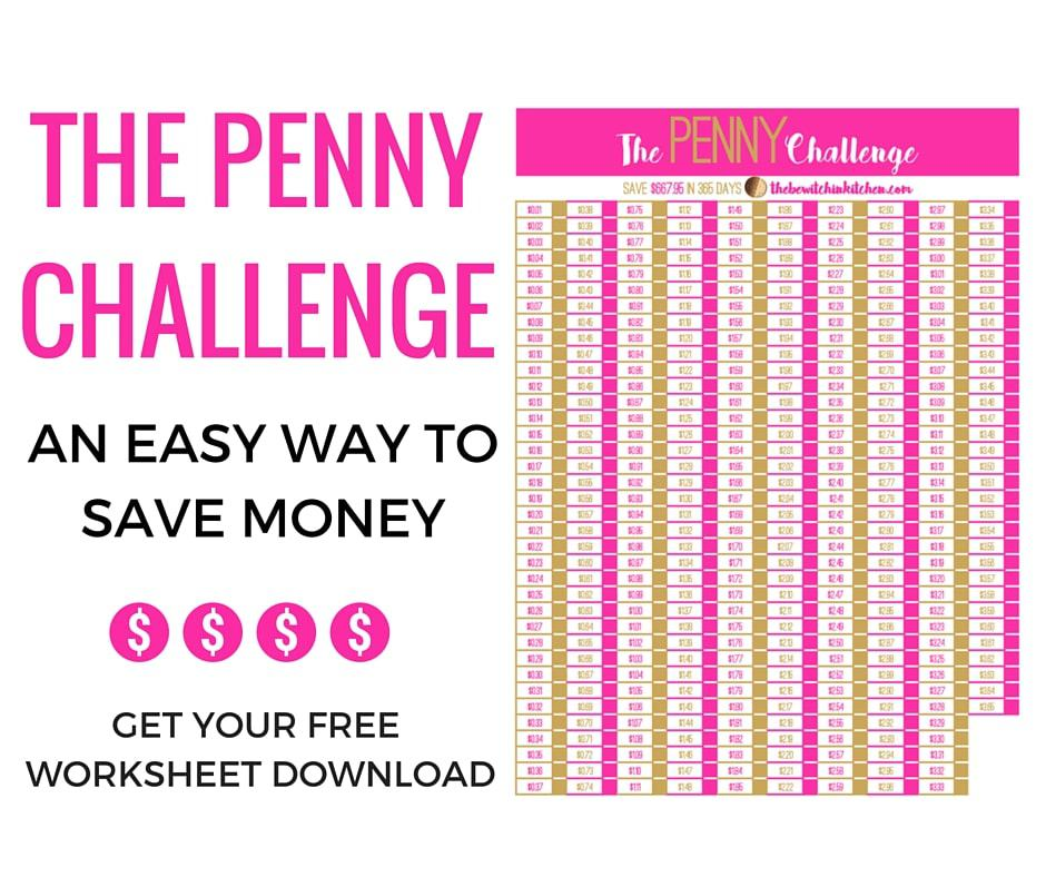 Easy Way To Save Money - The Penny Challenge | The Bewitchin' Kitchen