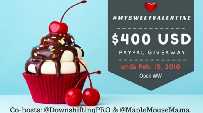 $400 PayPal Giveaway #MySweetValentine
