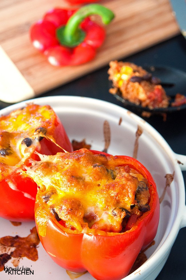 Southwestern Stuffed Peppers with Chicken