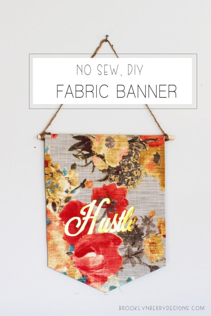NO SEW FABRIC BANNER