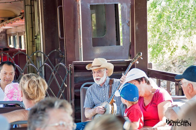The Kettle Valley Steam Railway is a fun family attraction in Summerland, British Columbia. A BC train ride throughout the Okanagan back country with stunning views.   thebewitchinkitchen.com