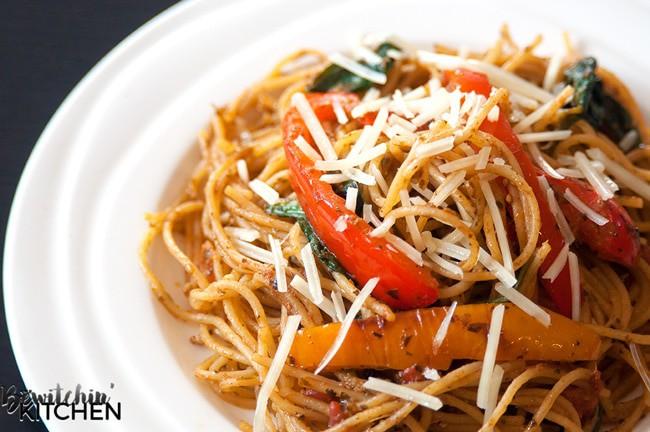 Tomato Pesto Spaghettini #CatelliFamilies