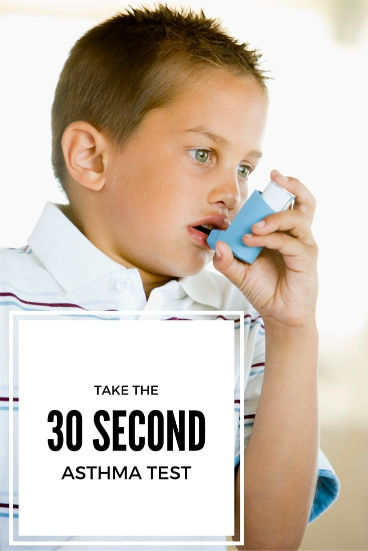 Take the 30 second asthma test to learn more about your asthma symptoms and to find out if your asthma is really under control.