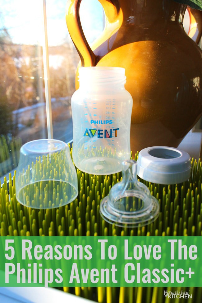 5 reasons to love the Philips Avent Classic+ Baby Bottle. Share this with your new mom friends!