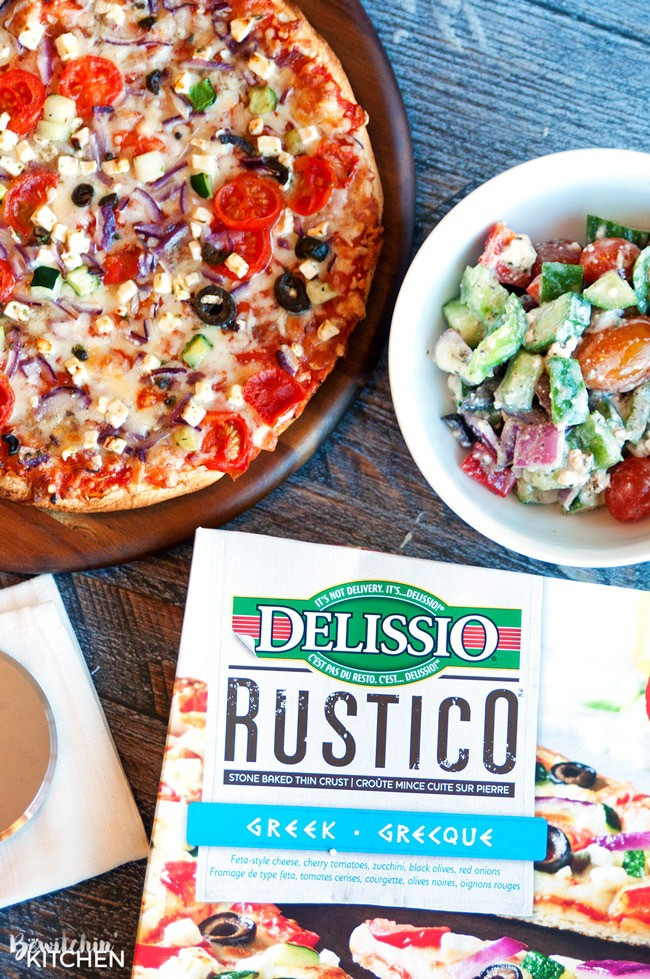 Easy personalized pairings for pizza night. Whether it's a cheap date night, a girls night or a quiet night with your favorite show here are a few fun ways to think outside the pizza box with Delissio Rustico's new Greek and Quattro Formaggi pizzas.