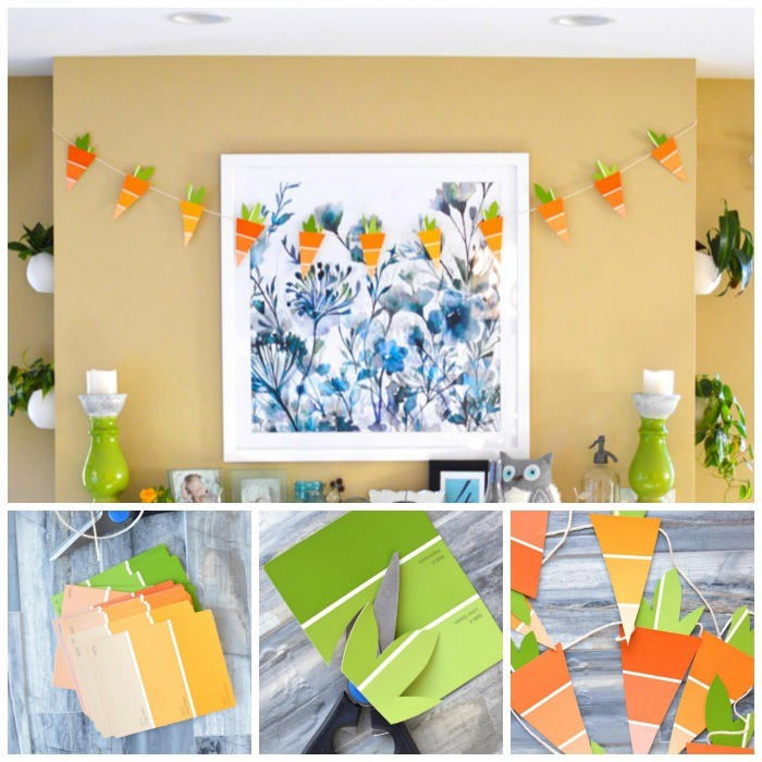 Paint Chip Craft: Spring Carrots