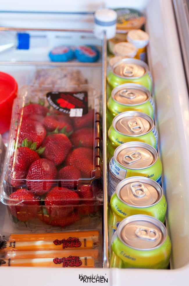 My healthy snack drawer. I stock it with cut up fruits and vegetables, cheese, hummus and sparkling water. Using Pure Life Sparkling Water as a replacement for sugary drinks is a great step for weight loss. Add it to your snack drawer, enjoy it with berries for flavor. It's a weight loss hack that tastes great!