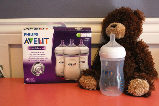 Philips Avent Natural Bottle. The breast like shape makes it easier to latch on and it has an anti-colic system.