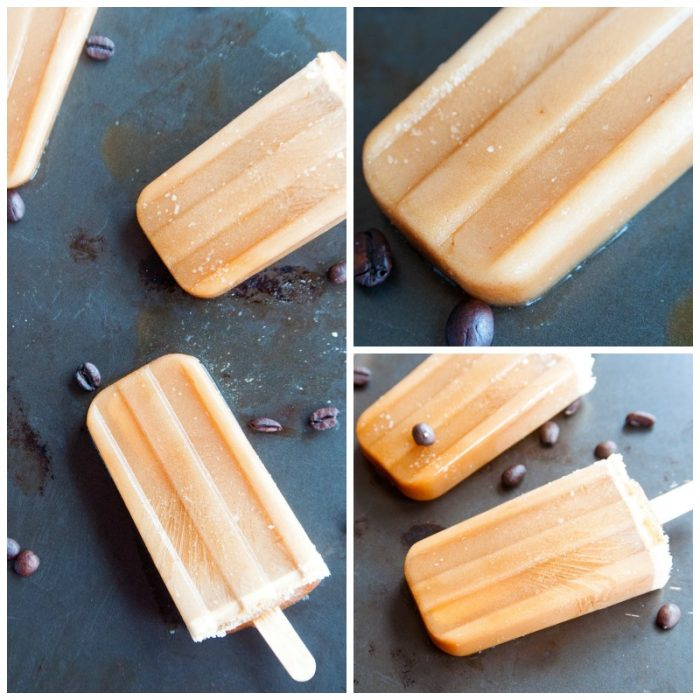 Two ingredient creamy paleo coffee popsicles. These ice pops are so easy to make, I used my paleo coffee creamer recipe to make this refreshing summer dessert/snack.