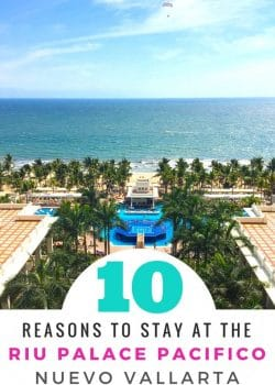 10 reasons to visit the Riu Palace Pacifico In Nuevo Vallarta, Mexico. Planning a vacation in the Puerto Vallarta area? Check out this all inclusive resort in the Riviera Nayarit. It has beautiful sandy beaches!