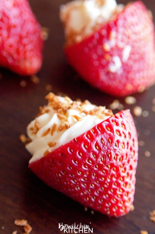 Coconut Cheesecake Stuffed Strawberries | The Bewitchin ...