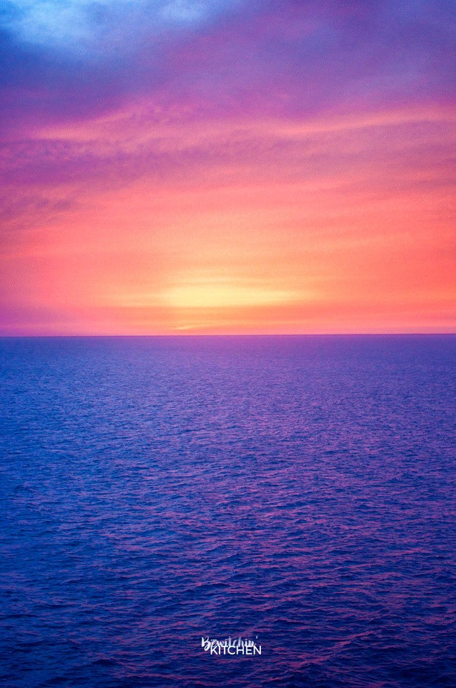 A beautiful caribbean sunset. Taken from the Carnival Magic stateroom balcony in between Mexico and Belize.