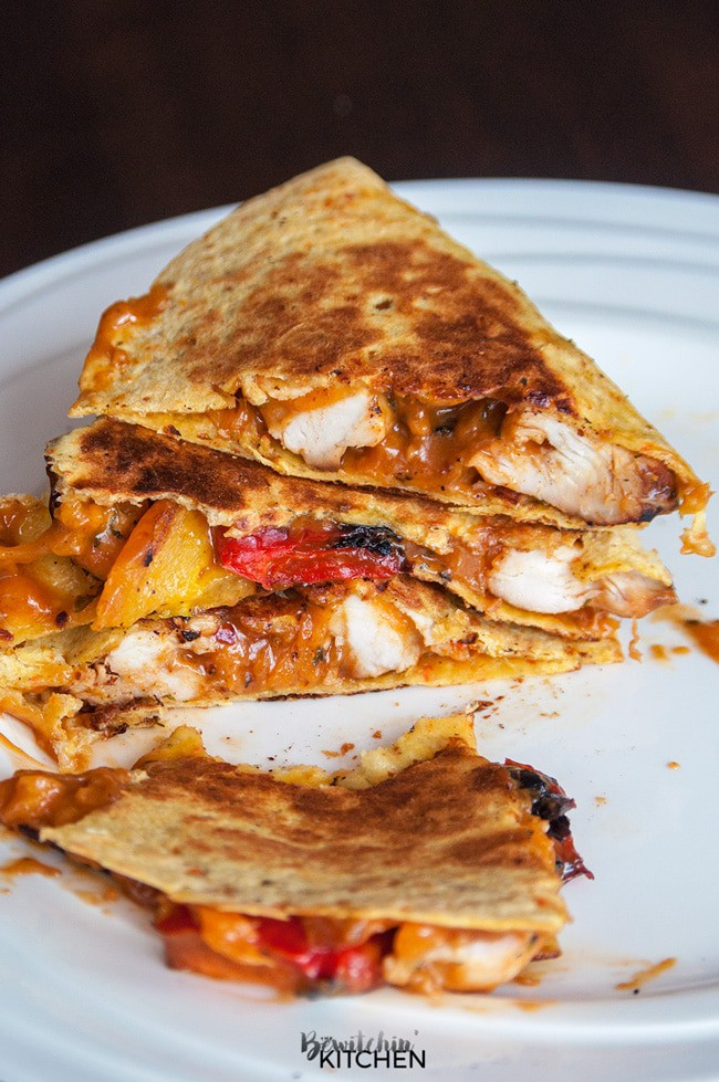 . This spicy chicken quesadilla recipe had a sweet and savoury peanut ...