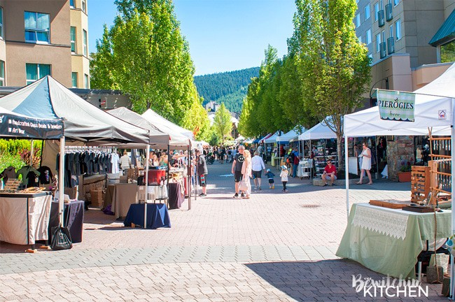 The Whistler Farmers Market is a must do when you visit Whistler, British Columbia. Part of the top 10 things to do in Whistler during the summer. BC is a beautiful place to travel.