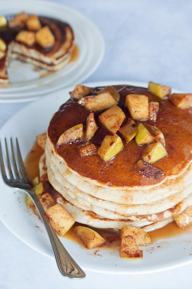 Caramel Apple Blender Pancakes #CookUpIncredible