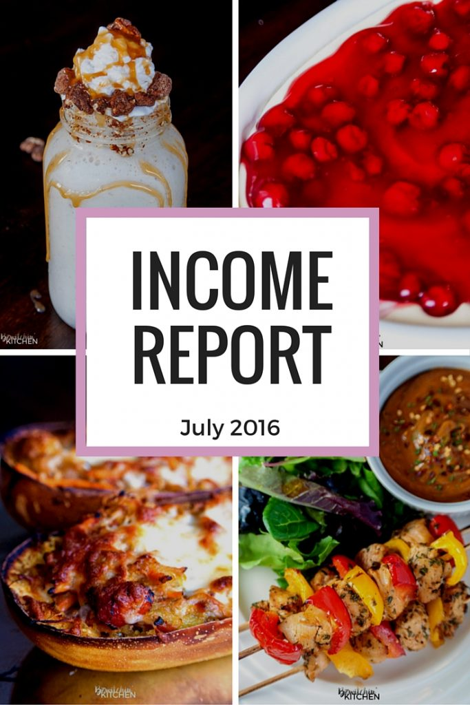 Blog income report for July 2016. If you're curious on the income and expenses of bloggers, give this a read.