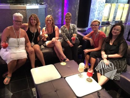 Bloggers from both Canada and the US on the Carnival Magic.