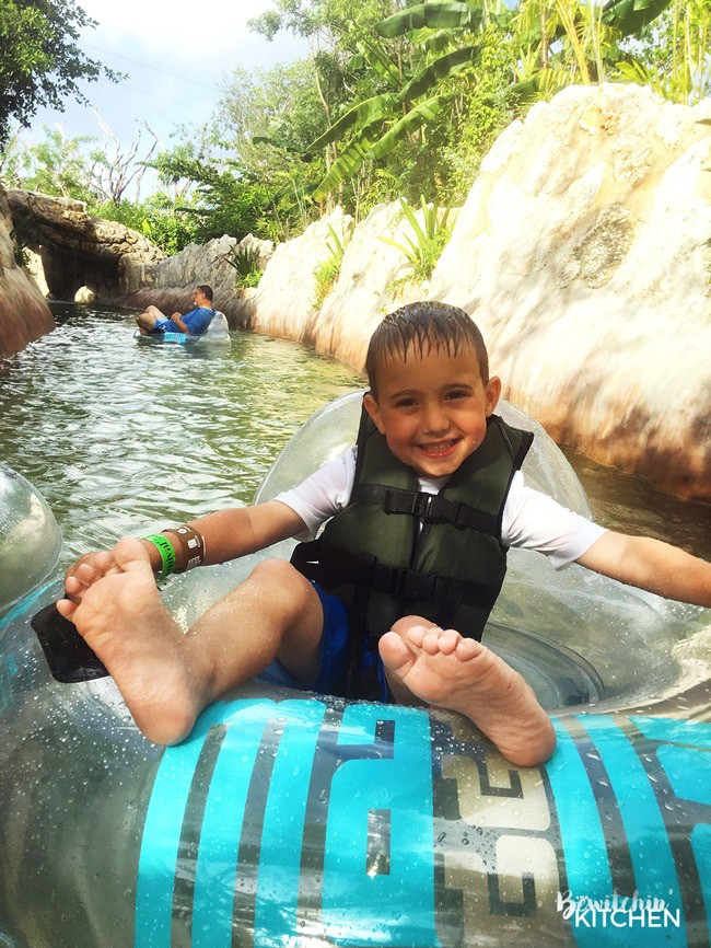 Lost Mayan Kingdom Adventure Park in Costa Maya, Mexico. This waterpark is perfect for family travel.