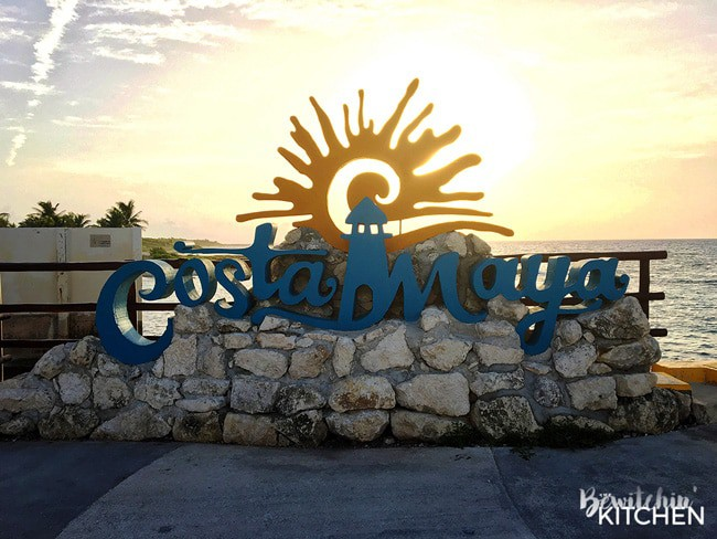 Costa Maya, Mexico. Off the cruise ship port with the Carnival Magic.