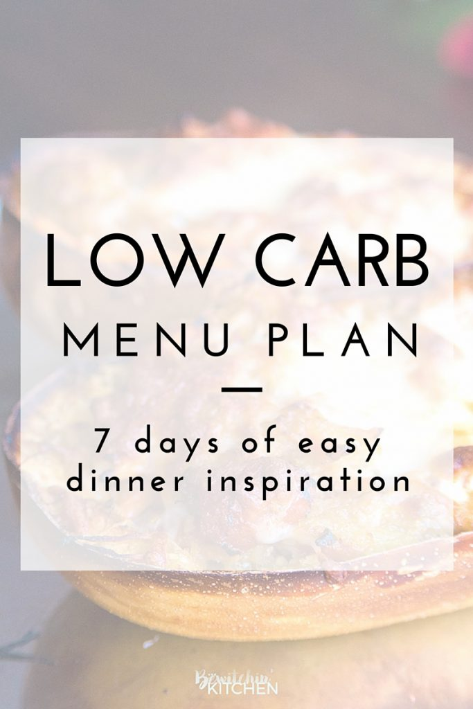 Low Carb Menu Plan August 1- August 7 #NoCarbQueens