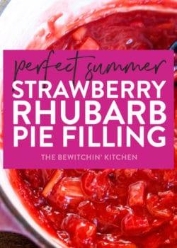 summer strawberry rhubarb pie filling