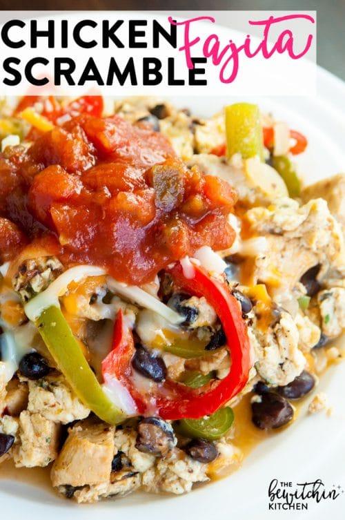 chicken fajita scramble breakfast recipe the bewitchin kitchen