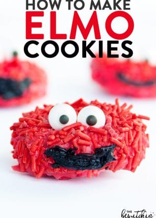 How to make Elmo cookies - these no bake cookies would be great for kids parties, especially a Sesame Street themed birthday or pre school class party!