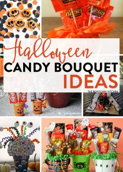 Halloween Candy Bouquet Ideas - 7 easy DIY candy bouquets for Halloween or special trick or treats.